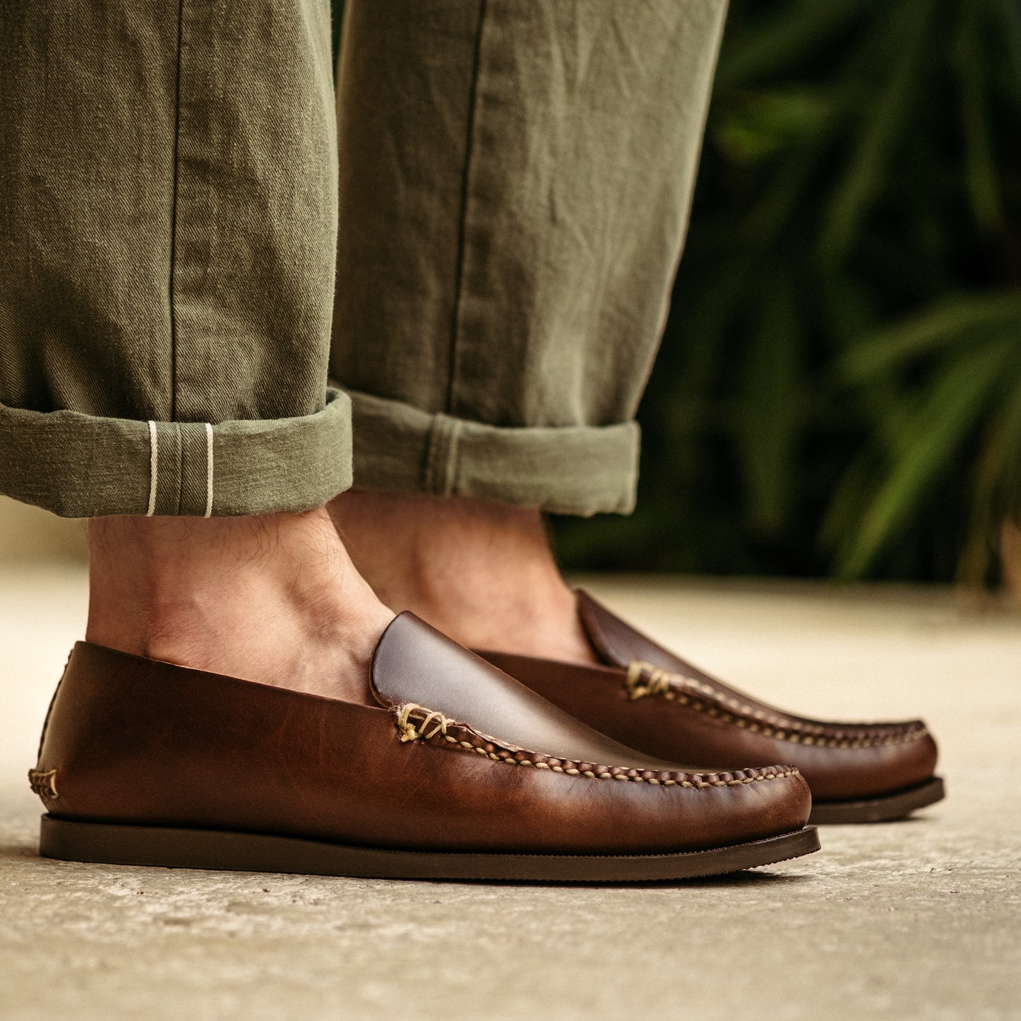 Slip Moc - Brown 12oz Chromexcel, Camp Sole - Made in USA