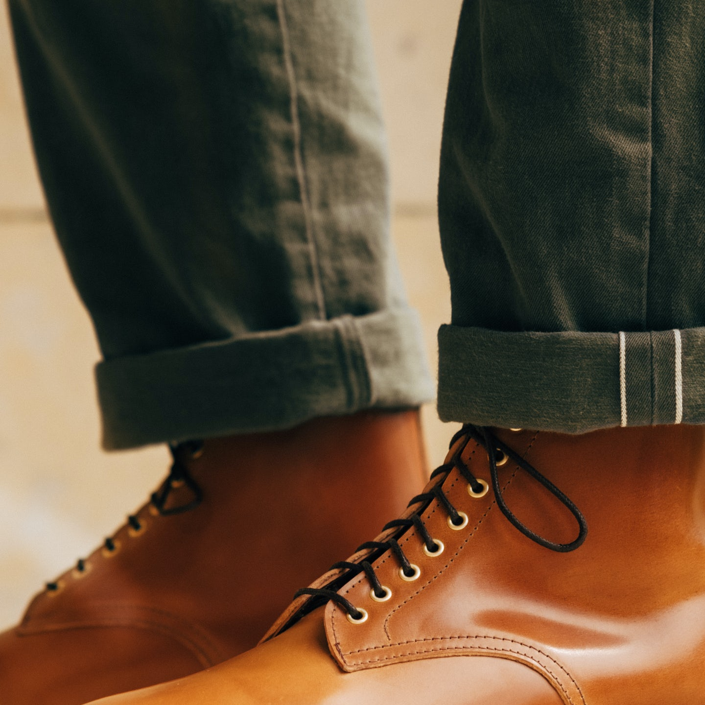 Cuoio Tuscan Shell Cordovan Lakeshore Boot - Feature Image