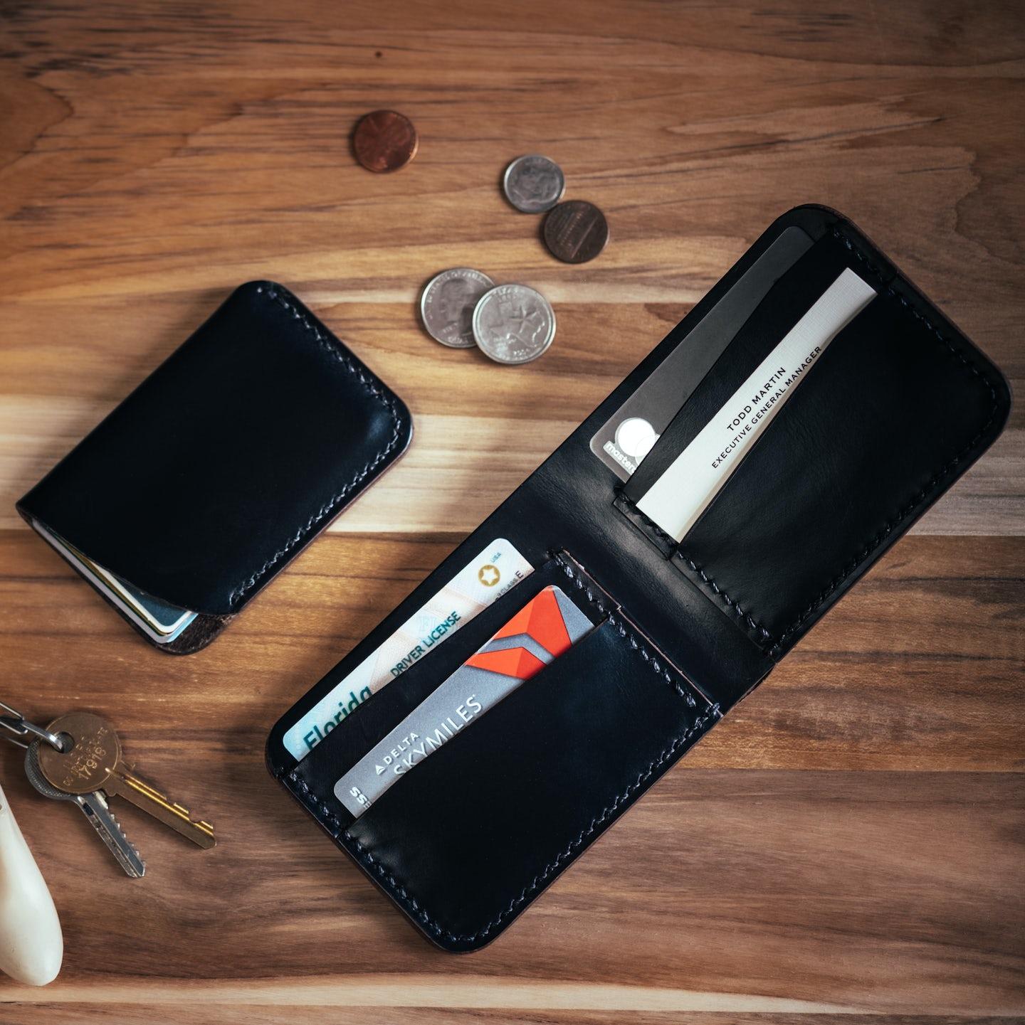 Black Chromexcel Bifold Wallet - Feature Image