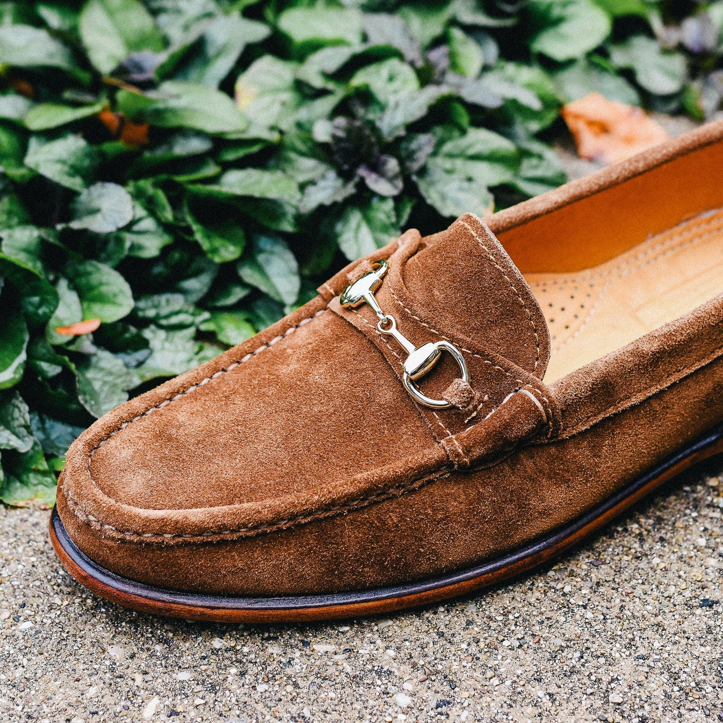 Snuff Janus Suede Bit Loafer - Feature Image