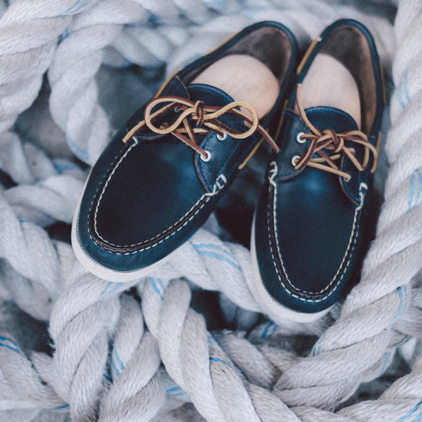 Navy Chromexcel Boat Shoe - Feature Image