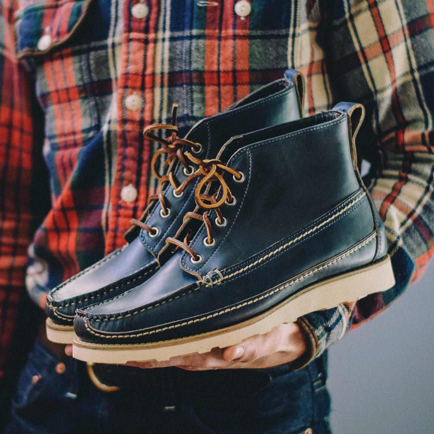 Navy Chromexcel Camp Boot - Feature Image