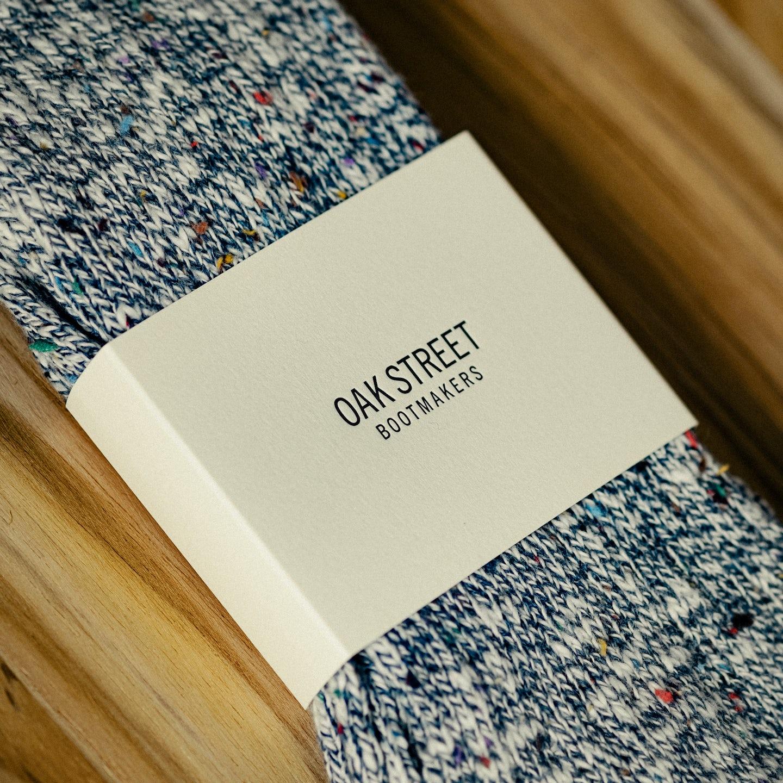 Washed Indigo Knit Camp Sock - Feature Image
