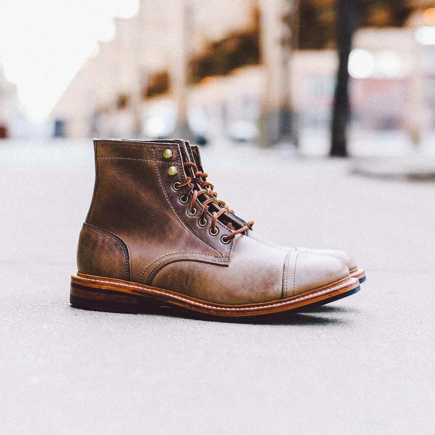 Natural Chromexcel Cap-Toe Trench Boot - Feature Image
