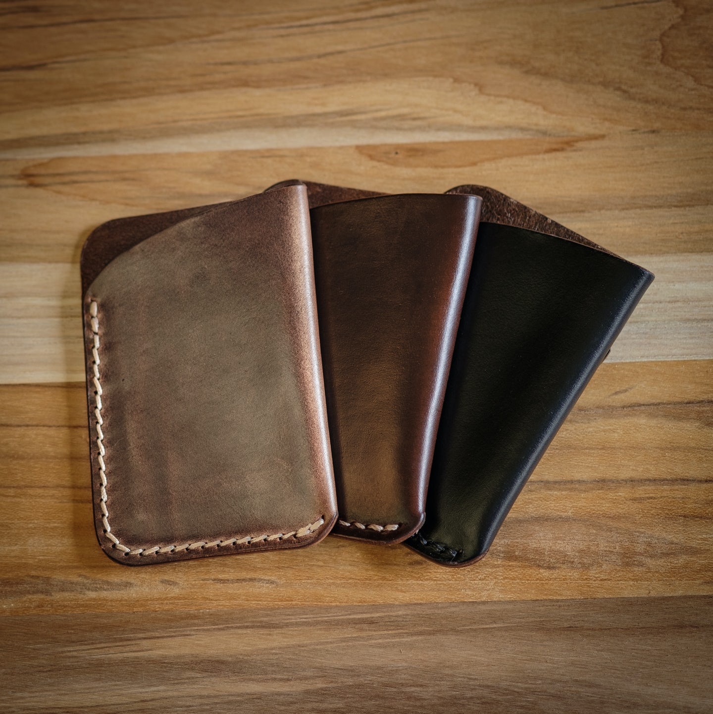 Brown Chromexcel Card Wallet - Feature Image