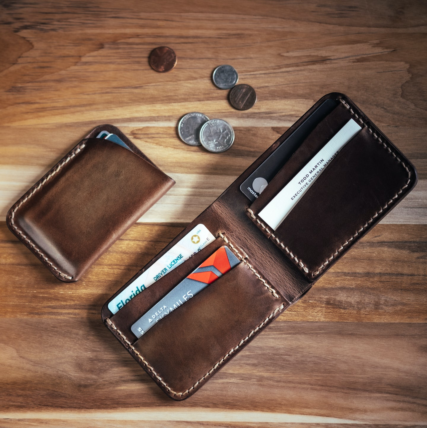 Natural Chromexcel Card Wallet - Feature Image