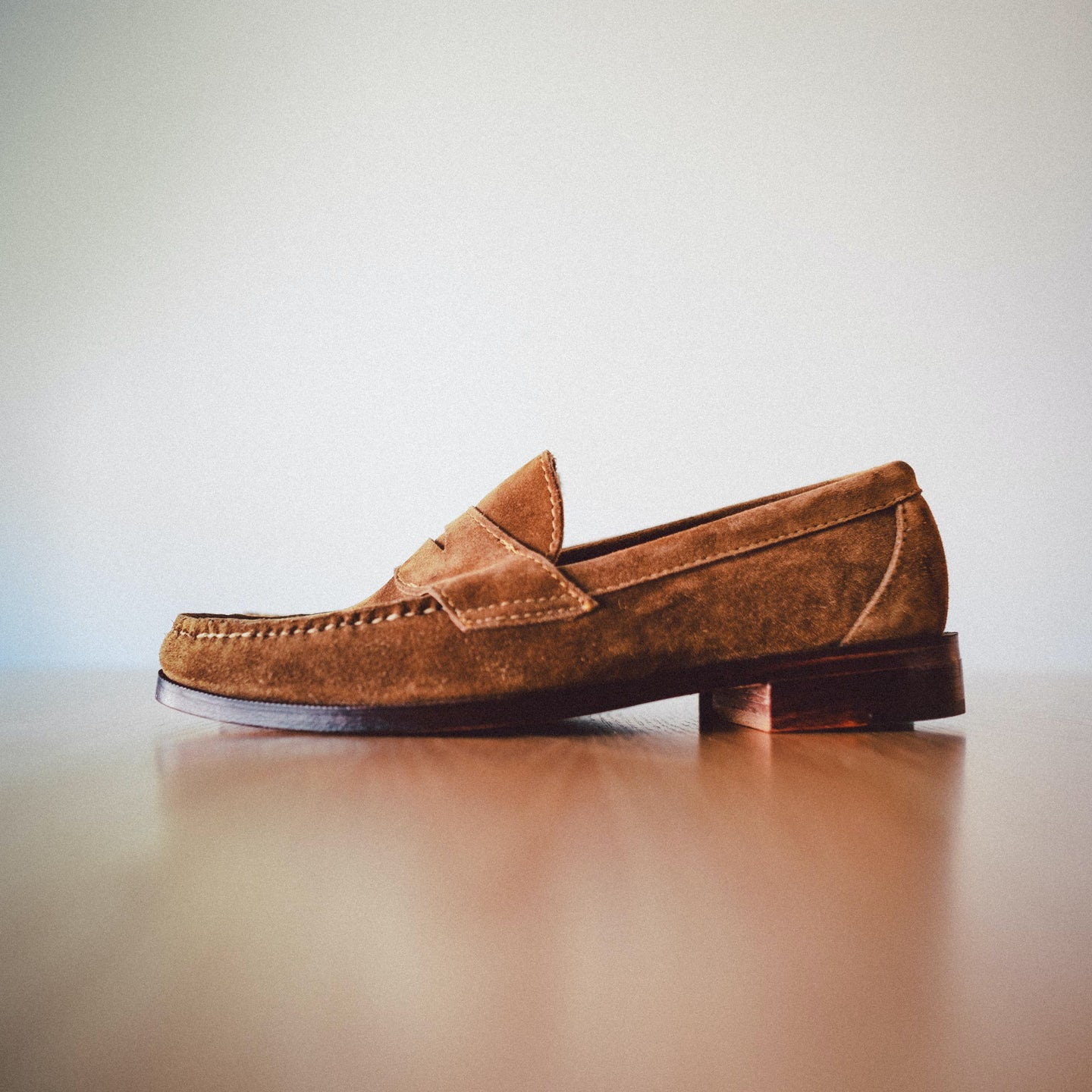 Snuff Janus Suede Penny Loafer - Feature Image