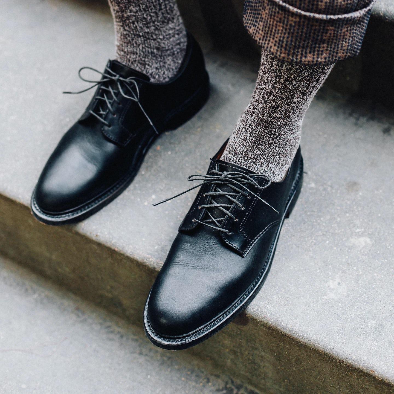 Black Chromexcel Plain Toe Blucher - Feature Image