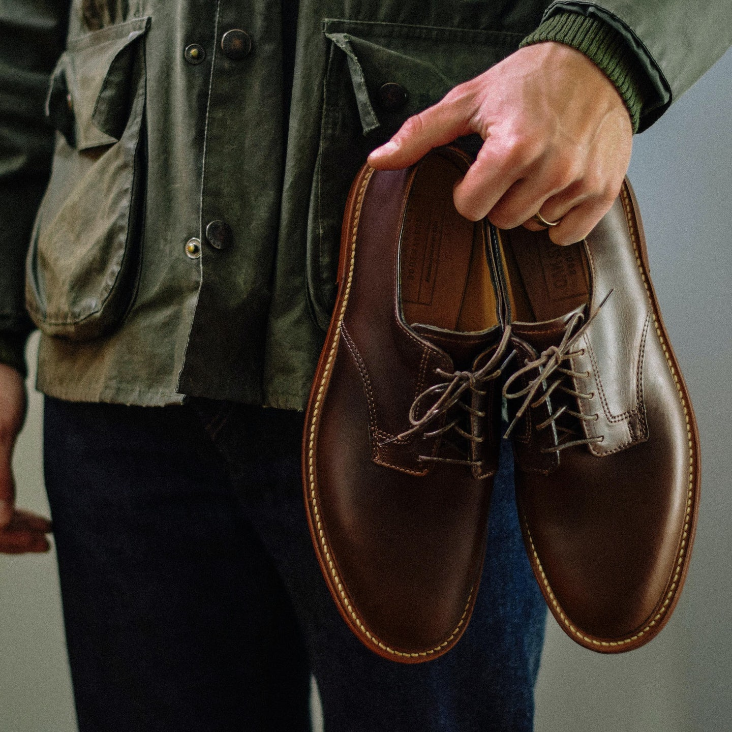 Brown Chromexcel Plain Toe Blucher - Feature Image