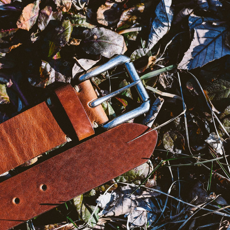 English Tan Dublin Roller Buckle Belt - Feature Image