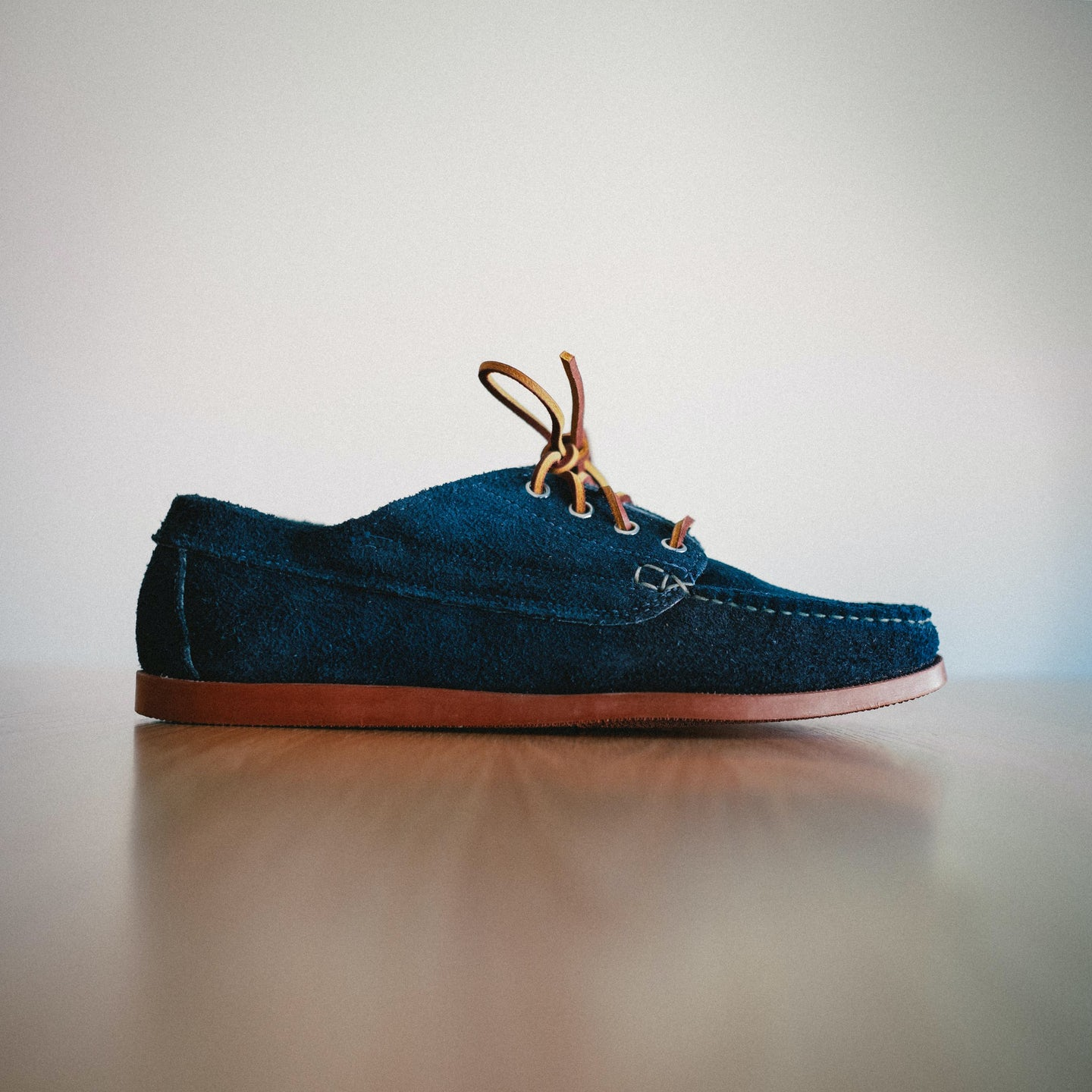 Navy Orion Suede Trail Oxford - Feature Image