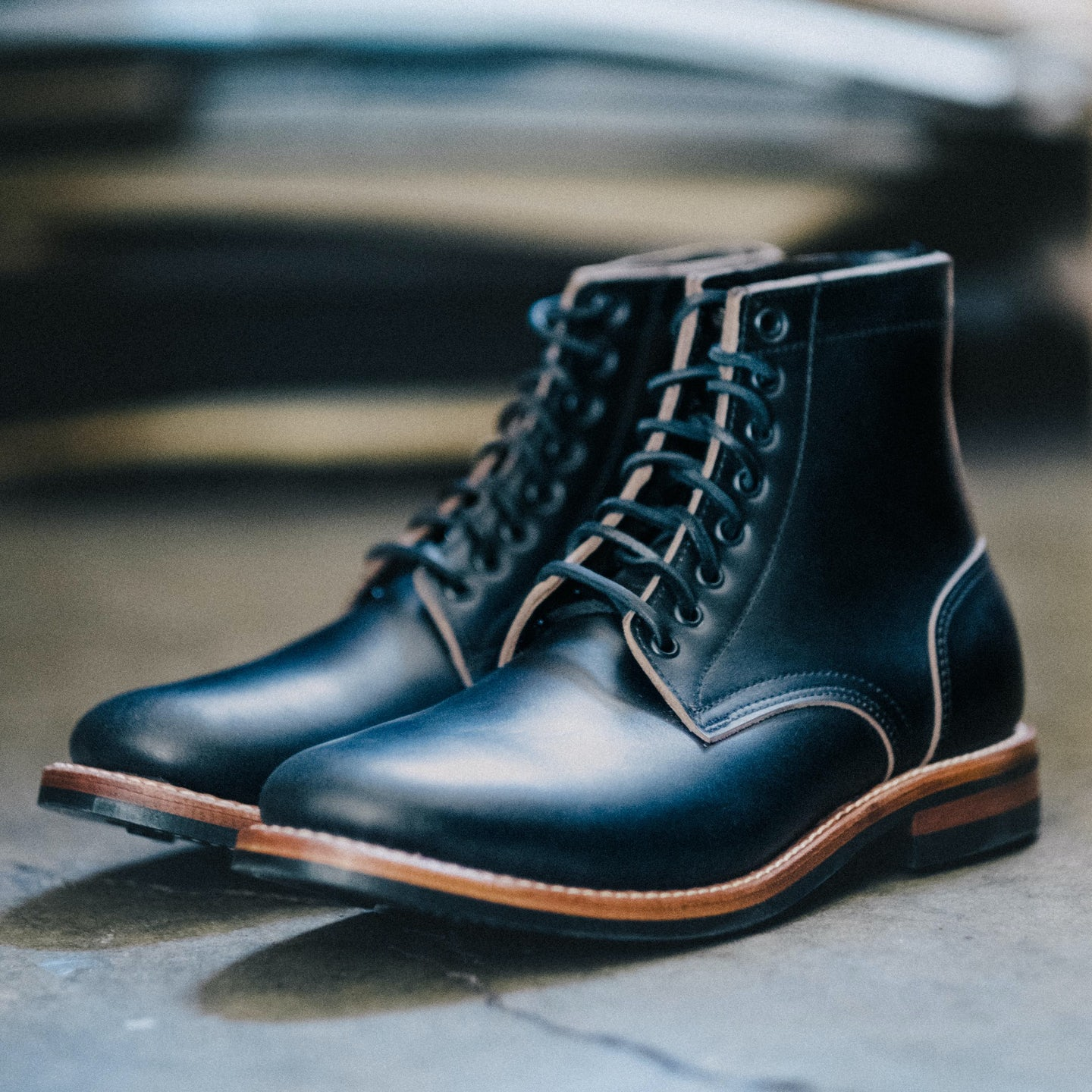 Black Chromexcel Trench Boot - Feature Image