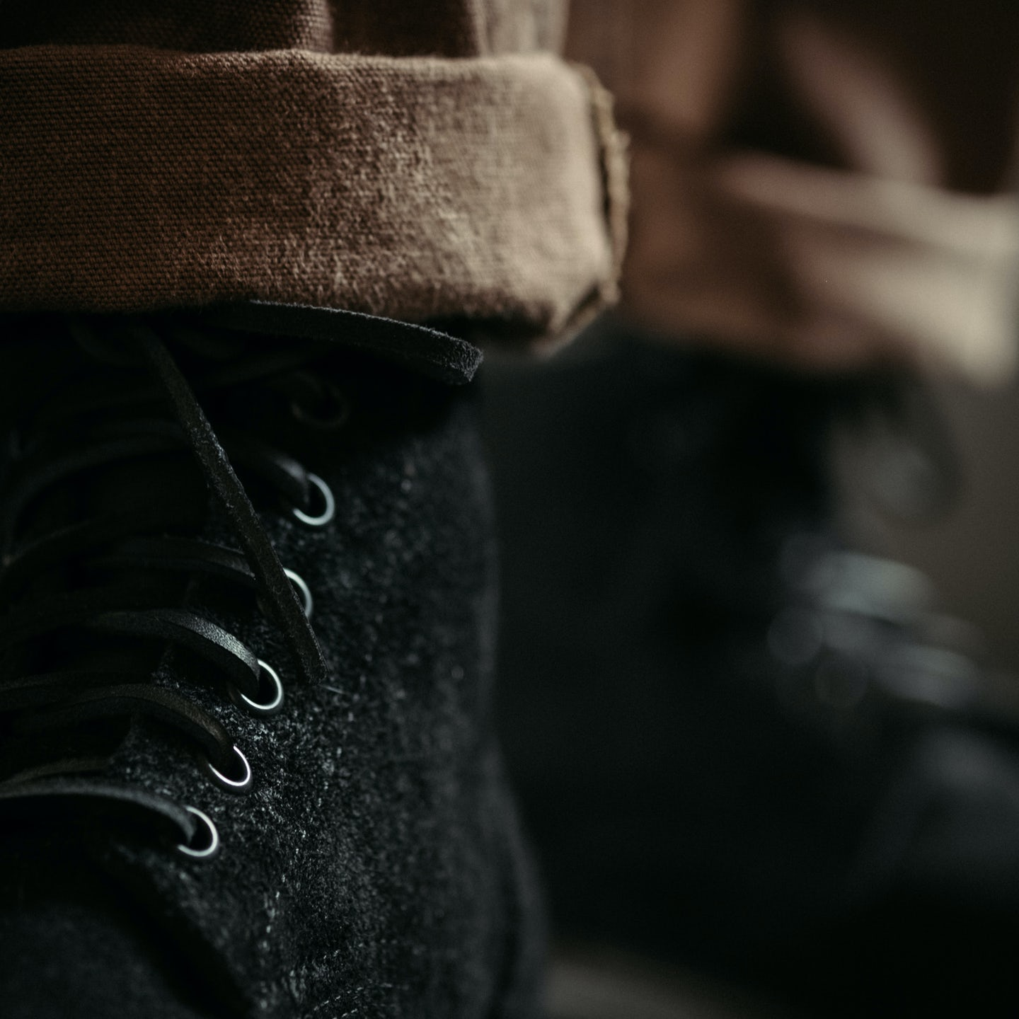 Black Oil Tan Roughout Trench Boot - Feature Image