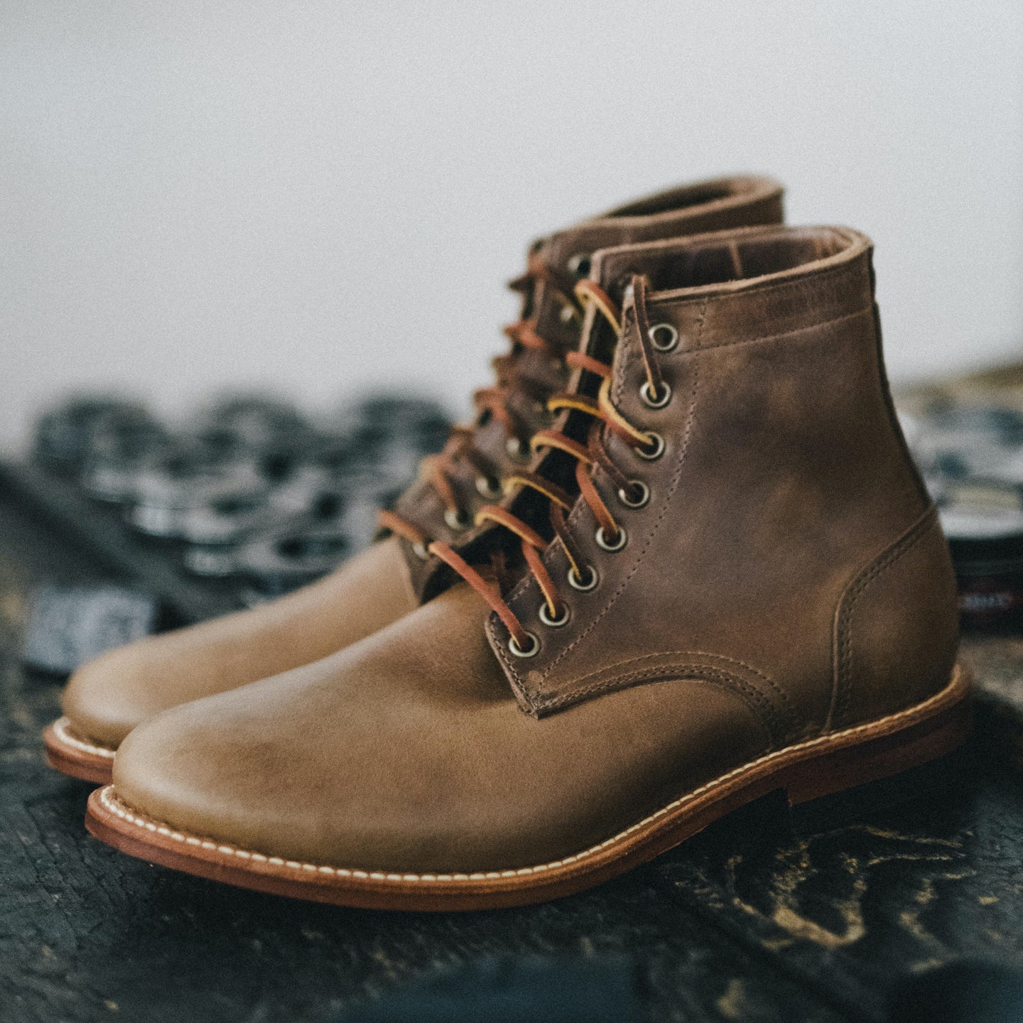 Natural Chromexcel Trench Boot - Feature Image
