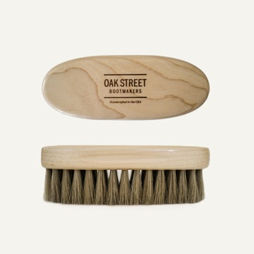 American Maple Shoe Brush - 100% Horsehair Bristles