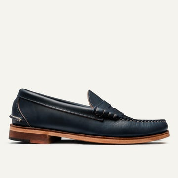 Beefroll Penny Loafer - Navy Chromexcel