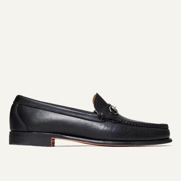 Bit Loafer - Black Calfskin