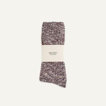 Camp Sock - Cranberry Knit
