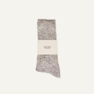 Camp Sock - Oatmeal Knit