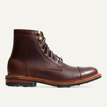 Cap-Toe Trench Boot - Brown Chromexcel