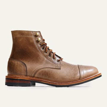 Cap-Toe Trench Boot - Natural Chromexcel