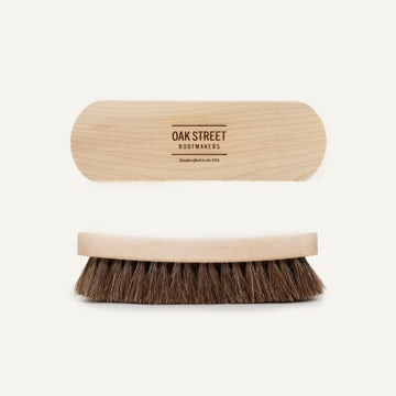 Essential American Shoe Brush - 100% Horsehair Bristles
