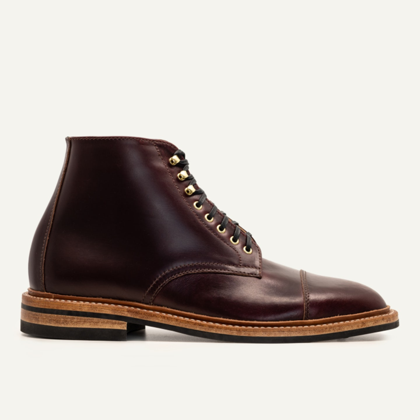 Cap-Toe Lakeshore Boot - Color 8 Chromexcel - Dainite Sole - Made in U.S.A. by Oak Street Bootmakers - View 1