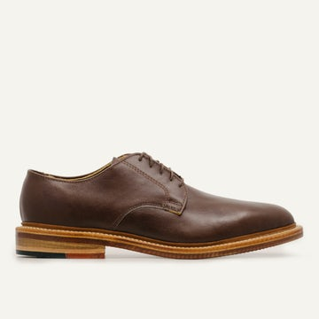 Plain Toe Blucher - Chocolate French Calf