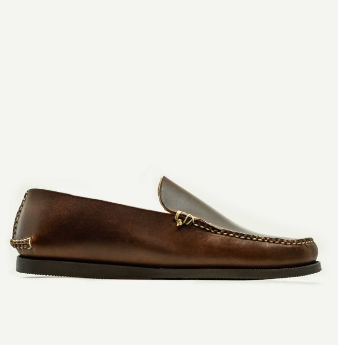 Slip Moc - Brown 12oz Chromexcel - Camp Sole - Made in U.S.A. by Oak Street Bootmakers - View 1