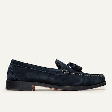 Tassel Loafer - Navy Janus Suede