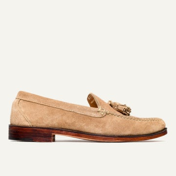 Tassel Loafer - Tan Janus Suede