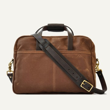 Utility Briefcase - Brush Brown Waxed Canvas