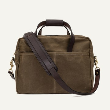 Utility Briefcase - Field Tan Waxed Canvas