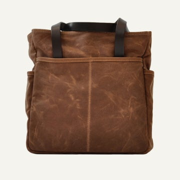 Utility Tote - Brush Brown Waxed Canvas