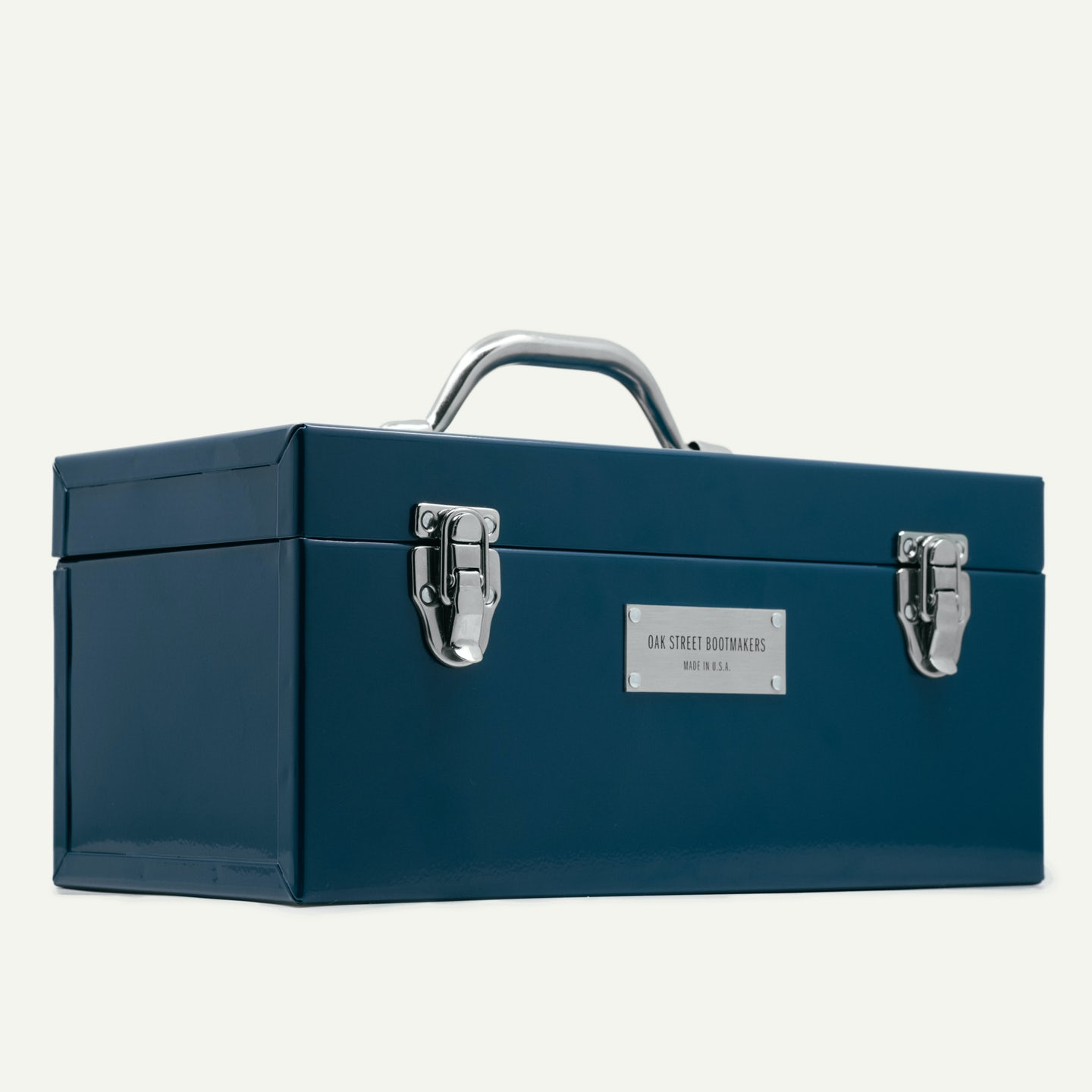 1950 Cobbler's Toolbox - Aegean Blue Cold Rolled Steel - Made in U.S.A. by Oak Street Bootmakers - View 2