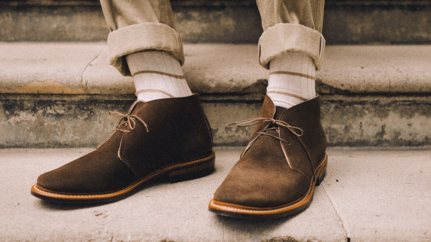 Chocolate Orion Suede Campus Chukka - Feature Image