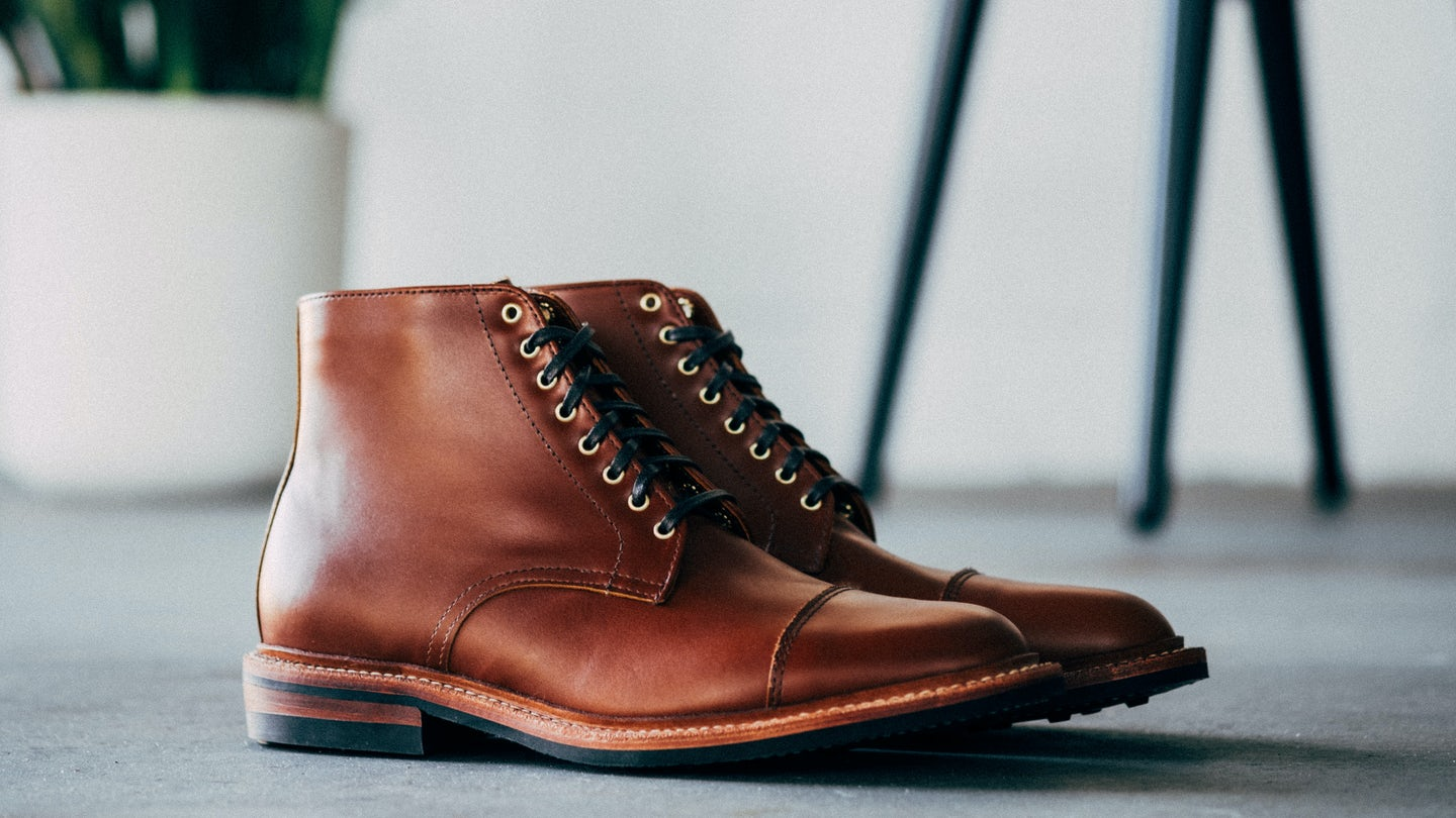 Cognac French Calf Lakeshore Boot - Feature Image