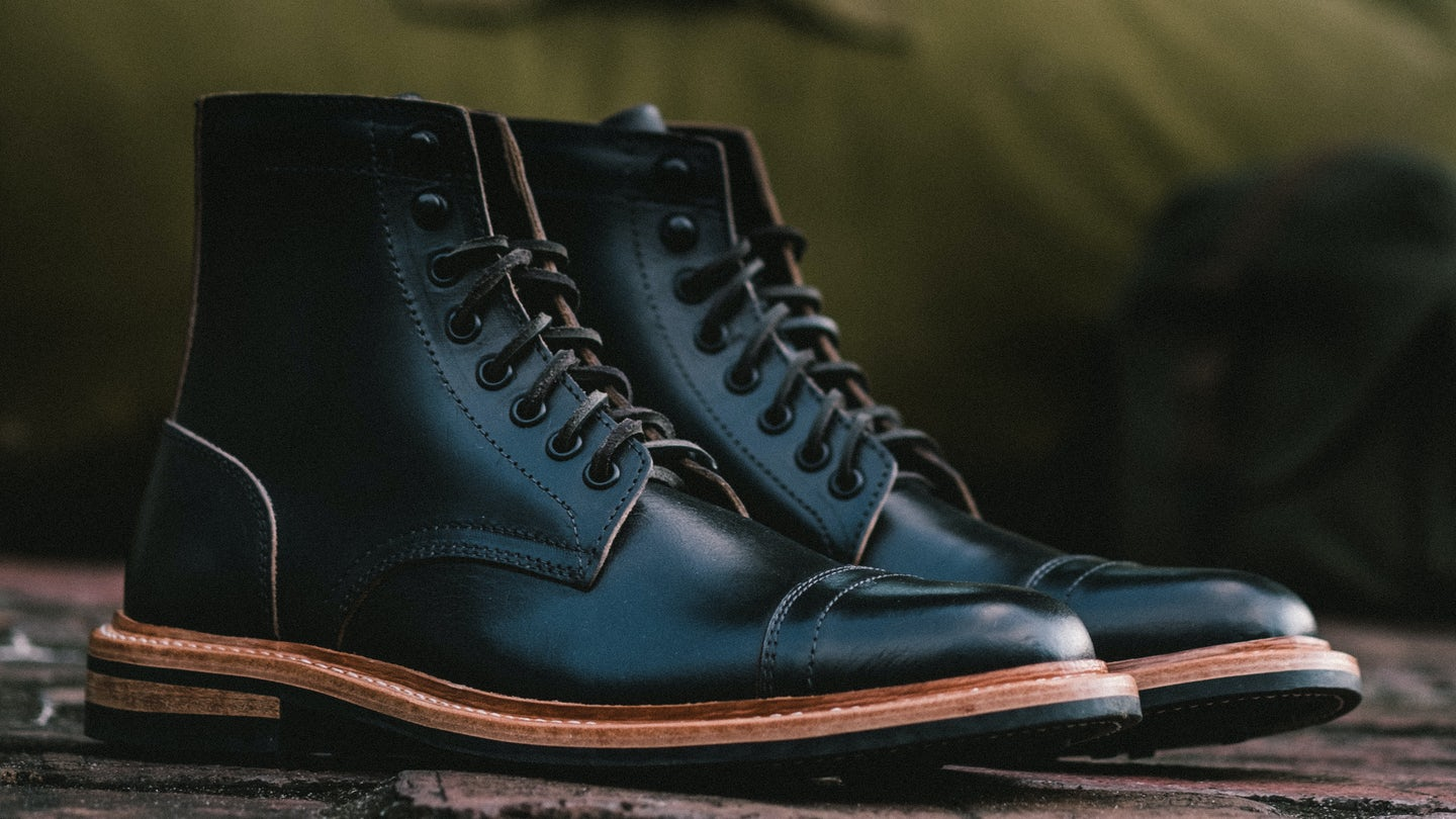 Black Chromexcel Cap-Toe Trench Boot - Feature Image