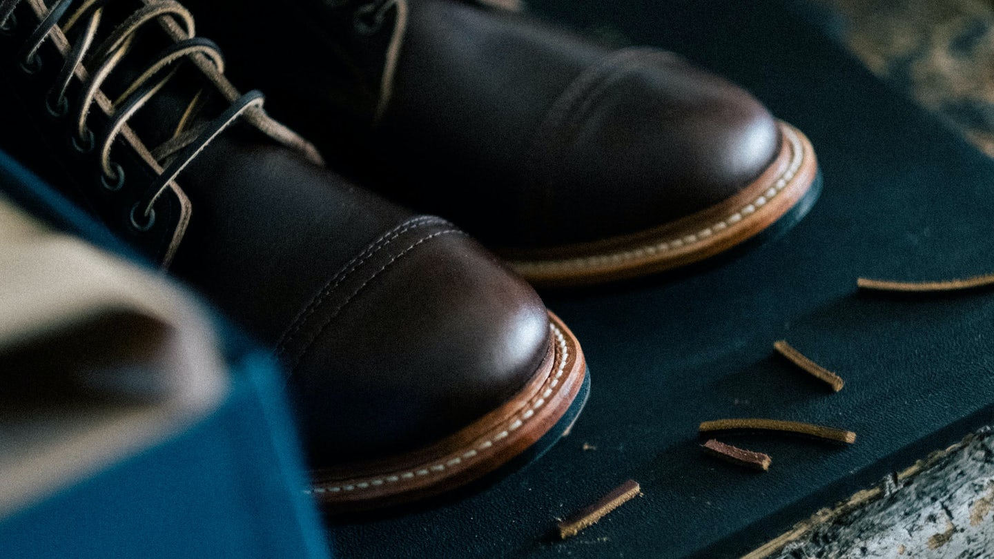 Brown Chromexcel Cap-Toe Trench Boot - Feature Image