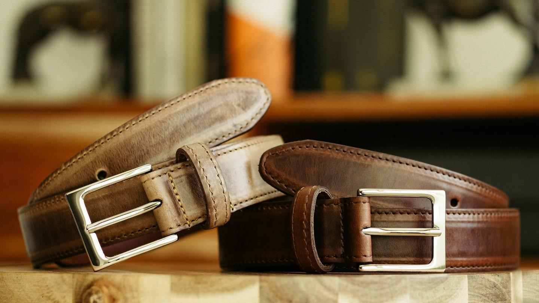 Brown Chromexcel Dress Belt - Feature Image