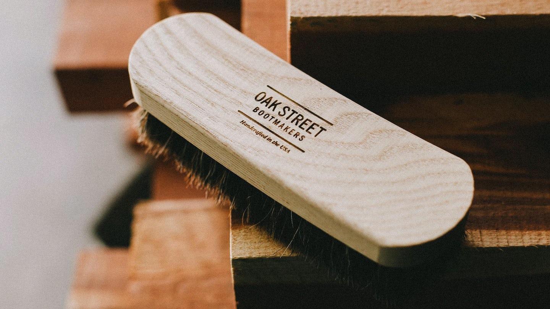 100% Horsehair Bristles Essential American Shoe Brush - Feature Image
