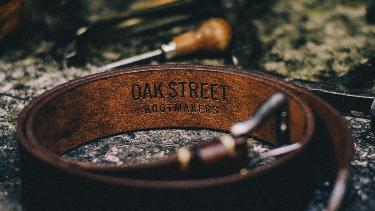 Brown Chromexcel Roller Buckle Belt - Feature Image