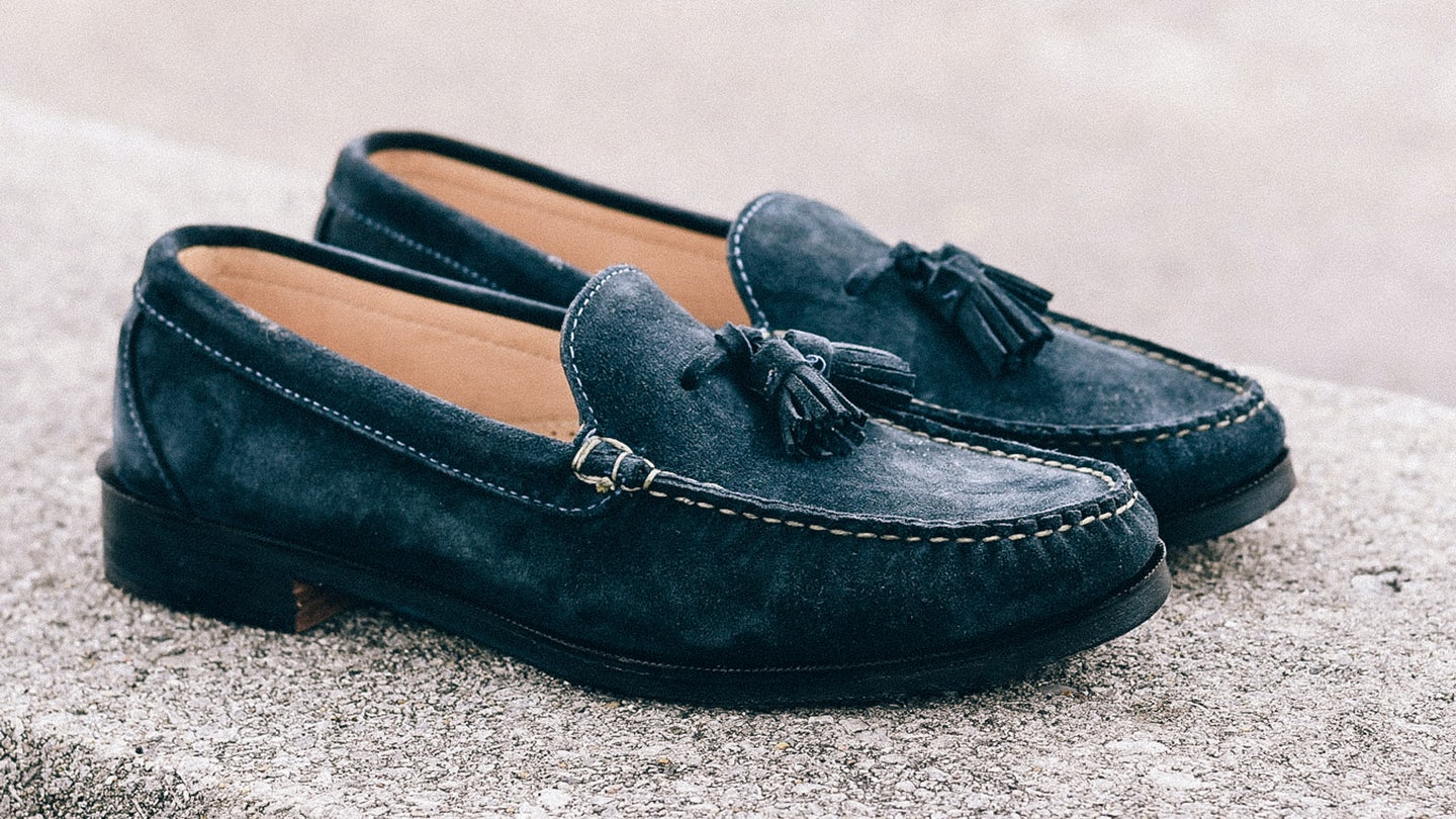 Navy Janus Suede Tassel Loafer - Feature Image