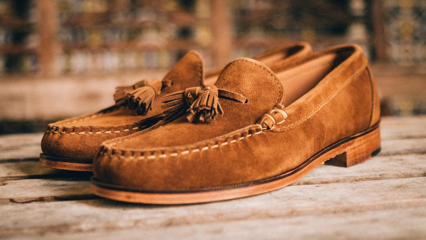Snuff Janus Suede Tassel Loafer - Feature Image