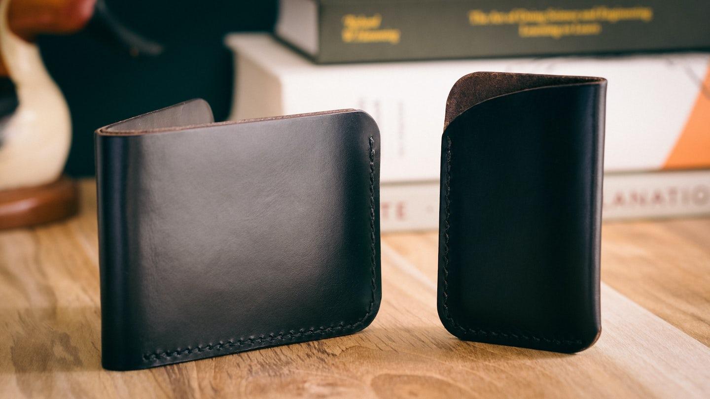 Black Chromexcel Card Wallet - Feature Image