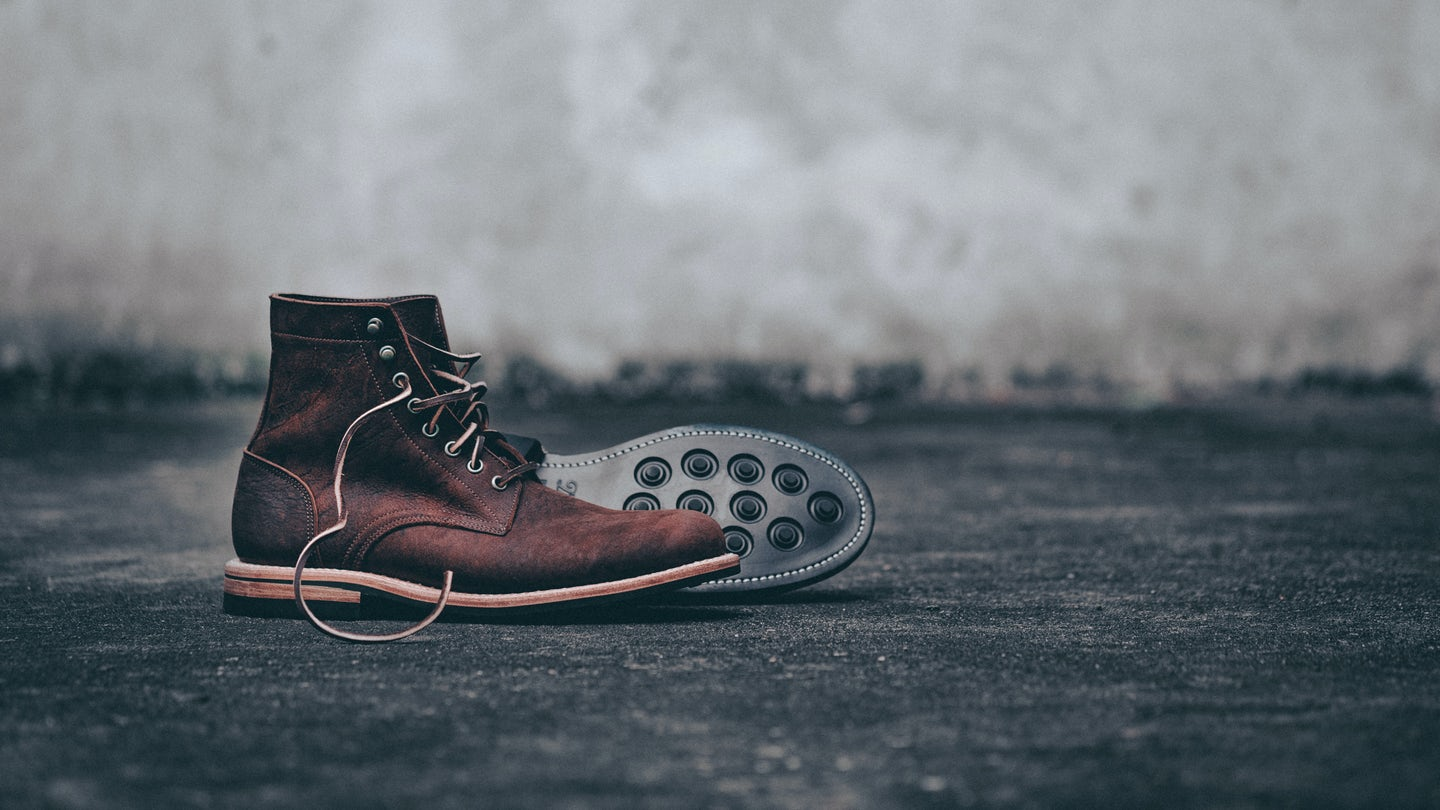 Snuff Waxed Kudu Trench Boot - Feature Image